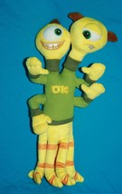 Disney Store TERRY TERRI Monsters Inc 2 Headed Stuffed Animal Yellow Plush Toy - $11.11