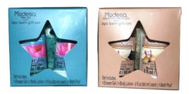 Modesa 3 Piece Gift Sets (Shower Gel, Lotion & Bath Pouf) ~Choose From 4... - $8.95