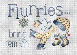 Flurries Post Stitches cross stitch chart with charm Sue Hillis Designs image 1