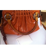 MARC JACOBS Collection Cecilia leather snake embossed BAG orange $1,400... - $499.99