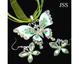 Jss dainty butterfly crystal necklace earring set thumb155 crop
