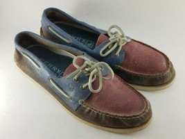 Sperry Top Sider Mens Size 11.5 M Boat Shoes Leather 3 Tone - $41.99