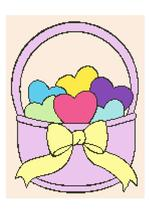 Basket of Love Crochet Graph Afghan Pattern - $4.00