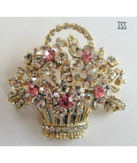 Basket of Flowers Brooch - $16.00