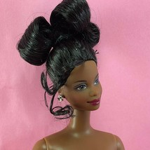 Barbie NICHELLE FACE Nude Updo AA African Black Hair 1998 Holiday TNT Do... - $17.00