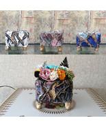 Handmade Ceramic Plant Pot Vase with Preserved Flower Rose Floral Arrang... - $29.95+