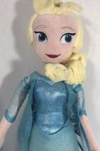 "Disney Frozen Princess Elsa Plush 19"" Blue Dress Stuffed Animal Toy - $15.83"