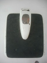 Mid Century Counselor  Bathroom Scale Art Deco White Black Magnify Glass - $49.49