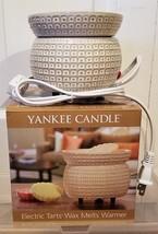 NIB Yankee Candle Electric Tarts Wax Melts Warmer, Denby Grid  - $29.99