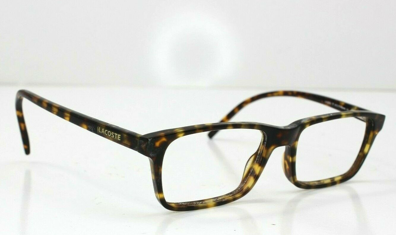 Lacoste 12033 Full Rim Unisex Brown Tortoise Rectangle Eyeglass Frame 51-17-140