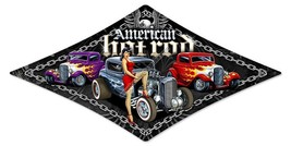 American Hot Rod Triangle Pin-Up  Metal Sign - $29.95