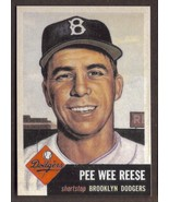 PEEWEE REESE Card RP #76 Dodgers 1953 T Free Shipping - $3.29