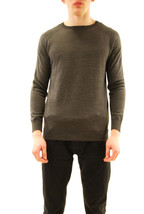 Denham Men's JV RAGLAN KNIT Sweater Charcoal Grey Size M RRP £175 BCF612 - $159.61