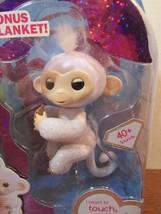 Fingerlings Sugar White Glitter Monkey WowWee Amazon Exclusive Bonus bla... - $17.82