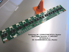 "Samsung 46"" LN46A550P3FXZA Master Back light Inverter 27-D022997 T87I030.02_1 - $18.70"