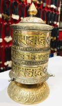 3 Line Om Mani Peme Hum Handmade Tibetan Prayer Wheel-BC3 - $113.85