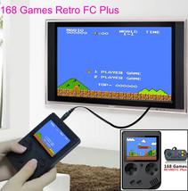 Retro FC Mini Game Machine 168Plus Double Person Version with Handle Yel... - $31.75