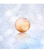 Solid Gold 3 Gram 14k Cabochon - Power & Success Charm - Round Not Drill... - $197.99