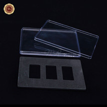 WR 3PCS Set Bar Display Stand Case Clear Acrylic Bullion Bar 50*28mm Box... - $9.12