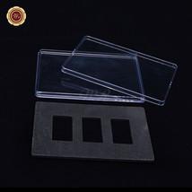 WR 3PCS Set Bar Display Stand Case Clear Acrylic Bullion Bar 50*28mm Box... - $9.12
