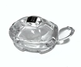 Oneida Turtle Lead Crystal Paperweight Clear Figurine 3.5 inches Long   - $23.76