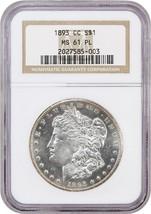 1893-CC $1 NGC MS61 PL - Flashy! - Morgan Silver Dollar - Flashy! - $5,606.60