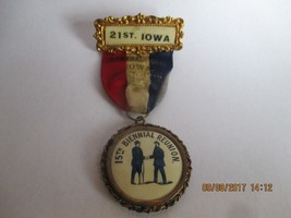 1912 CIVIL WAR REUNION CROCKER'S 21ST IOWA BRAGADE - 15TH BIENNIAL REUNION - $44.55