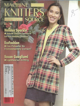 Machine Knitters Source Nov Dec 1995 Magazine Holiday Sparkle EcoFashion - $4.27