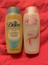 Lot Of Rare Body Wash Caress Sensational Smoothing & Dove Gentle Exfoliating - $16.53