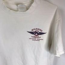 Vintage T-shirt Wildside Custom Motorcycles Los Banos Thrashed Grunge Biker - £18.11 GBP
