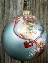 Germany Krebs Santa Flight Around the World Glass Christmas Ornament - $14.00