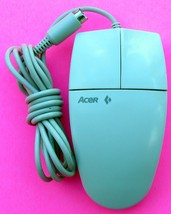 VINTAGE GENUINE ACER PS/2 COMPUTER MOUSE GM-9601 90.00026.050 2 BUTTON -... - $17.99