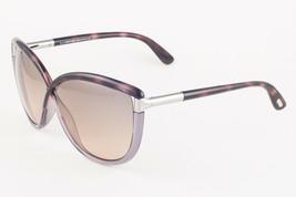 Tom Ford ABBEY 327 56B Havana Silver / Brown Gradient Sunglasses FT327 5... - $195.02