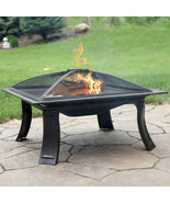 "26"" Fire Pit Steel Square Folding with Spark Screen and Carrying Case - $220.00"