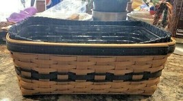 Longaberger Basket 1997 Collectors Club Edition Braided Leather Handles NEW image 2