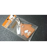PEANUTS SNOOPY Leather key Holder House Ver, Brown Made in Japan - $22.15