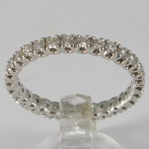 White Gold Ring 750 18k, Veretta Eternity with Diamonds, Carat 0.66 - $3,197.43