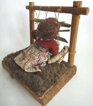 antique AMERICAN INDIAN WEAVING DOLL loom HANDMADE  - $42.50