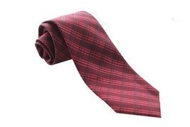 Calvin Klein Men's Silk Viscose Blend Necktie, Cerise Story Grid, Red - $21.77