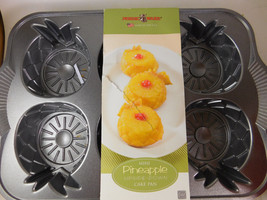 Nordic Ware Mini Pineapple Upside Down Cake Pan 6 Individual Cakes New!!! - $14.77
