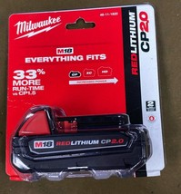 Milwaukee 48-11-1820 M18 18-Volt Lith-Ion 2.0 Ah Compact Battery-NEW-NOT REFURB - $59.00