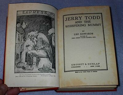 Leo Edwards Jerry Todd and the Whispering Mummy 1923 Series Book