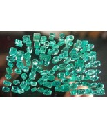 NATURAL 18.35 CARATS 91 GEMSTONES COLOMBIAN EMERALDS PARCEL UNTREATED GE... - $5,505.00