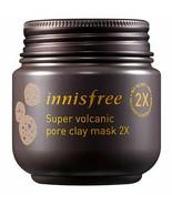 Innisfree Super Volcanic Pore Clay Mask 2x 100ml  3.4oz [US SELLER] - $9.40