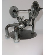 Weight Lifter Metal Bolt Figurine - $29.99