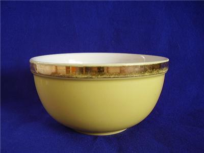 Vintage Hall Kitchenware Large Yellow Mixing Bowl