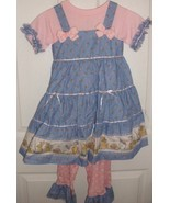 Girls spring or Easter dress in blue and pink s... - $26.00