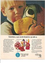 Vintage Ad 1967 Mattel Toys Toymakers Googli Bunny Puppy Patter Telephone - $6.00