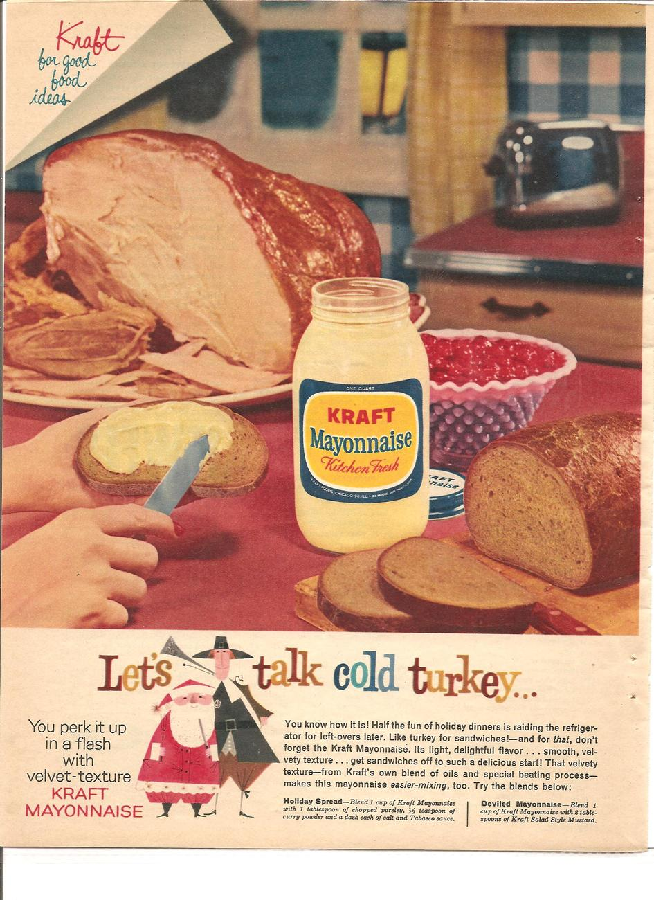 Vintage Ad 1960 Kraft Mayonnaise