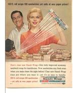 Vintage Ad 1960 Handi-Wrap Sandwiches - $6.00